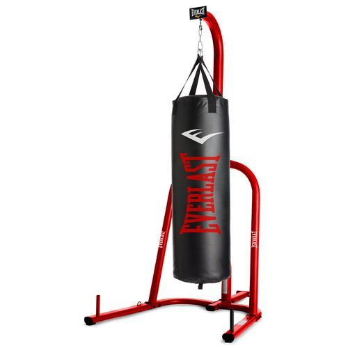 Everlast 60 Lb Synthetic Heavy Bag With Stand Red Black Boxing And Accessories At Academy Sports