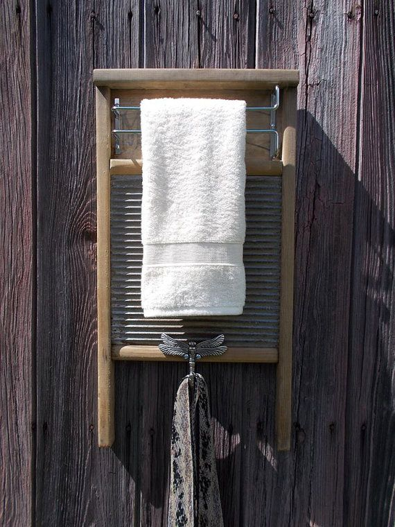 Upcycled Vintage Washboard Display Hanger Home By