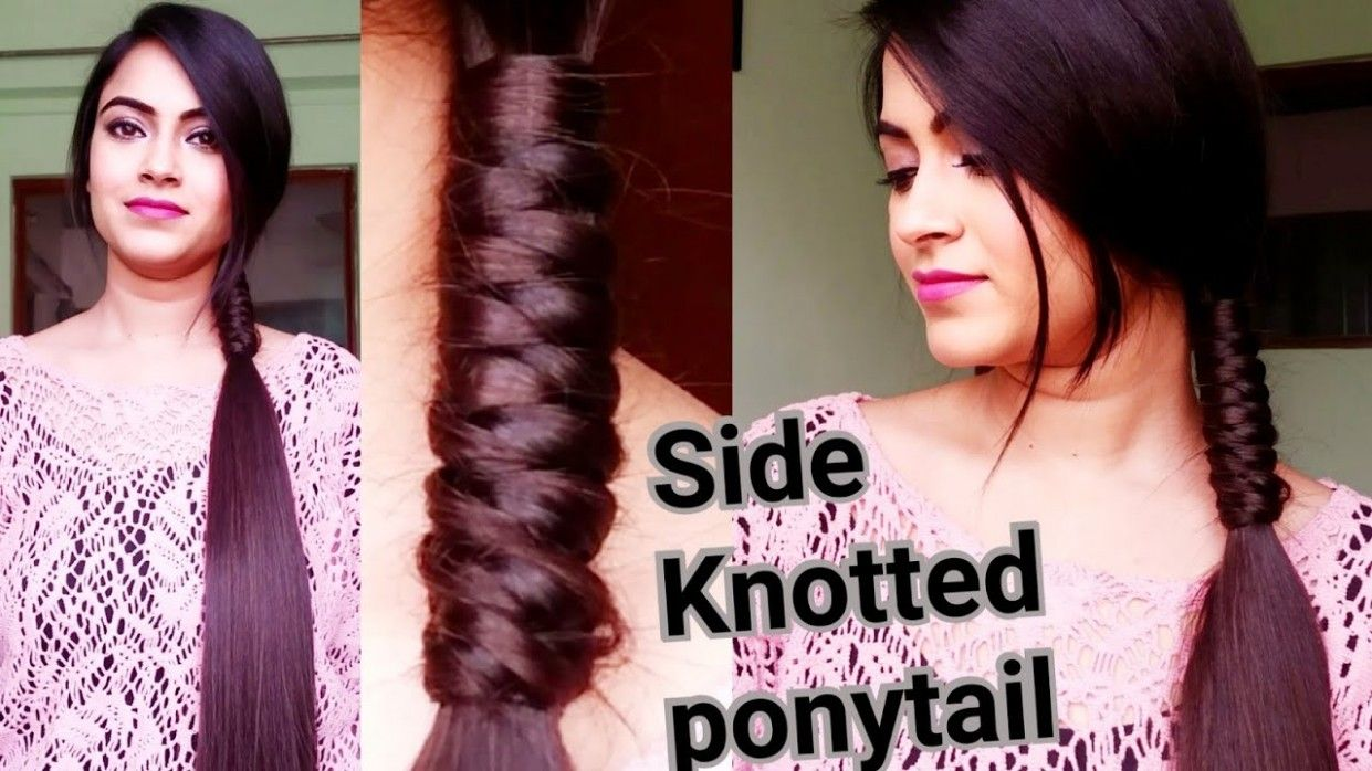 Very Easy Hairstyle In Hindi In 2020 Hair Styles Long Hair Styles Knot Ponytail
