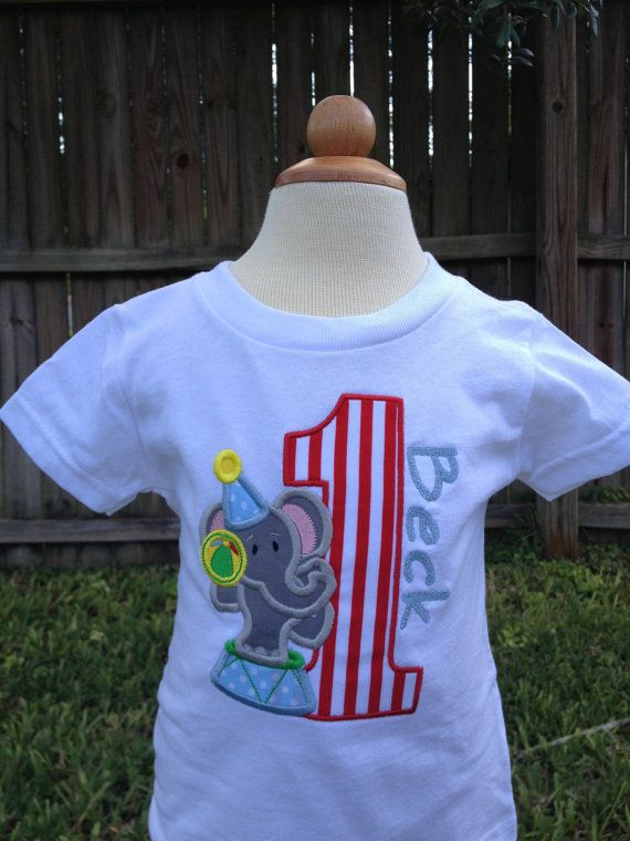 Circus Elephant Birthday Shirt