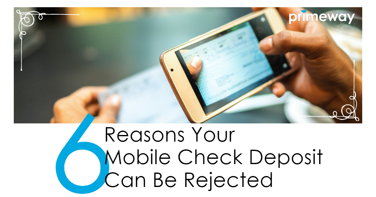 A mobile deposit is a quick and easy way to deposit checks into your account. Learn 6 reasons a mobile check deposit gets rejected, so you don't hold up getting your money.   6 𝙍𝙚𝙖𝙨𝙤𝙣𝙨 𝙔𝙤𝙪𝙧 𝙈𝙤𝙗𝙞𝙡𝙚 𝘾𝙝𝙚𝙘𝙠 𝘿𝙚𝙥𝙤𝙨𝙞𝙩 𝘾𝙖𝙣 𝘽𝙚 𝙍𝙚𝙟𝙚𝙘𝙩𝙚𝙙  #MobileApps #Cashless #InternetBanking #Banking #DigitalWallet #LifeGoals #FinanceTips #FinanceBlogger ⁠