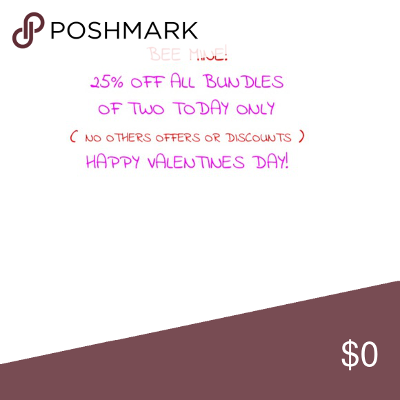 Bundle sale today only!😍❤️😘 No other discounts or offers if using bundle deal Other