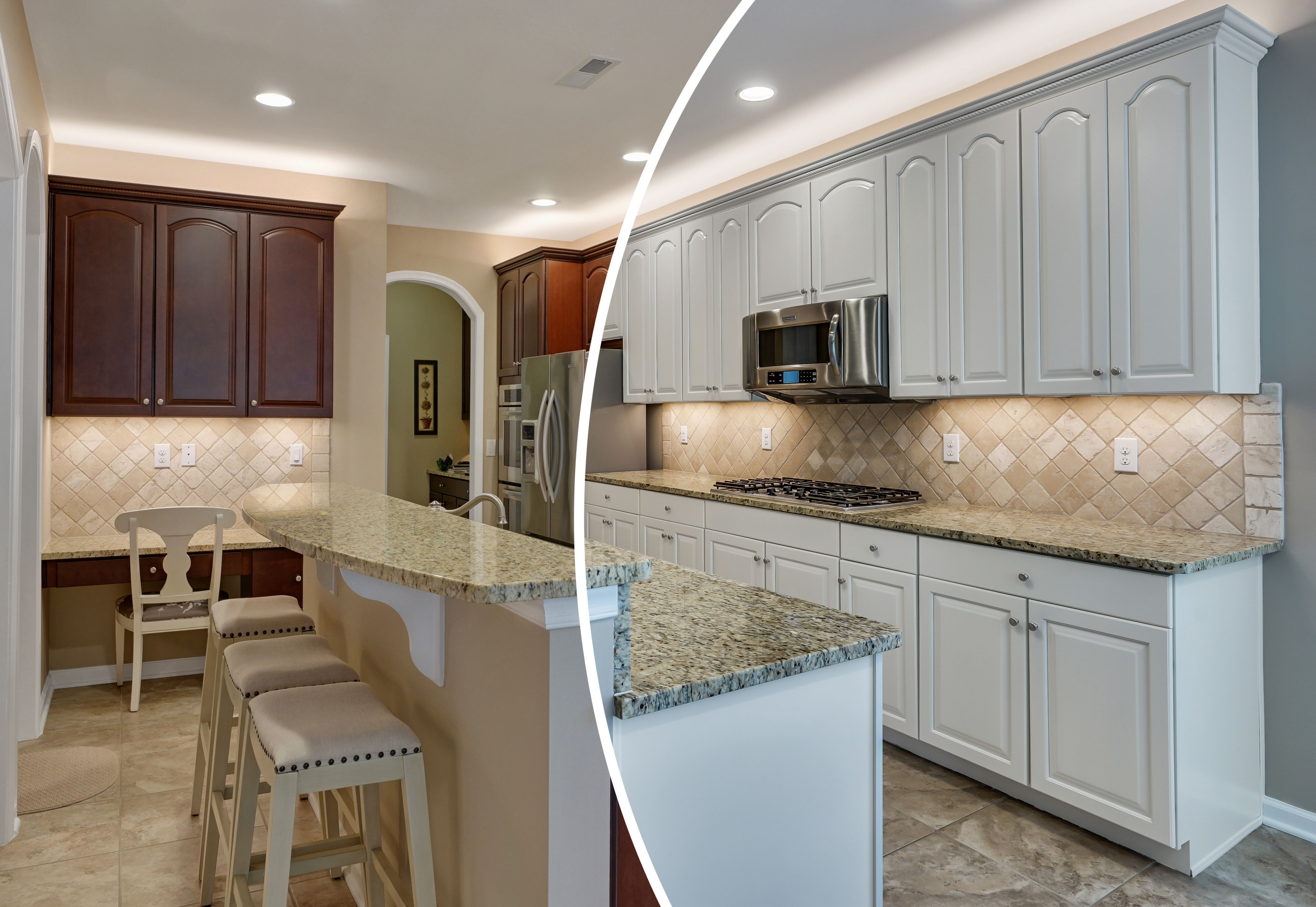 Professional Cabinet Painting Traditional Kitchen Remodel Refinishing Cabinets Cabinet Colors