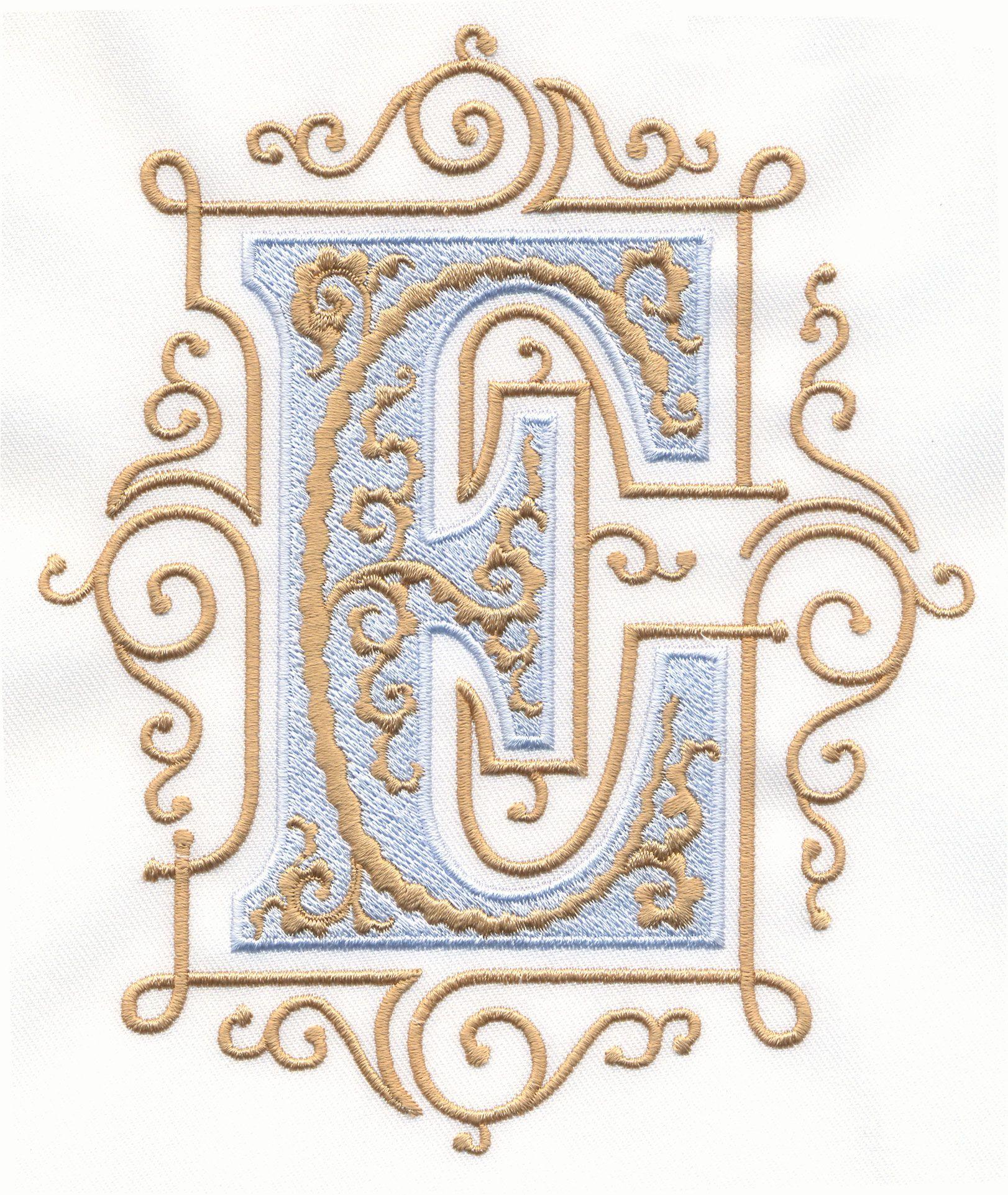 Vintage royal alphabet accent designs alphabets e