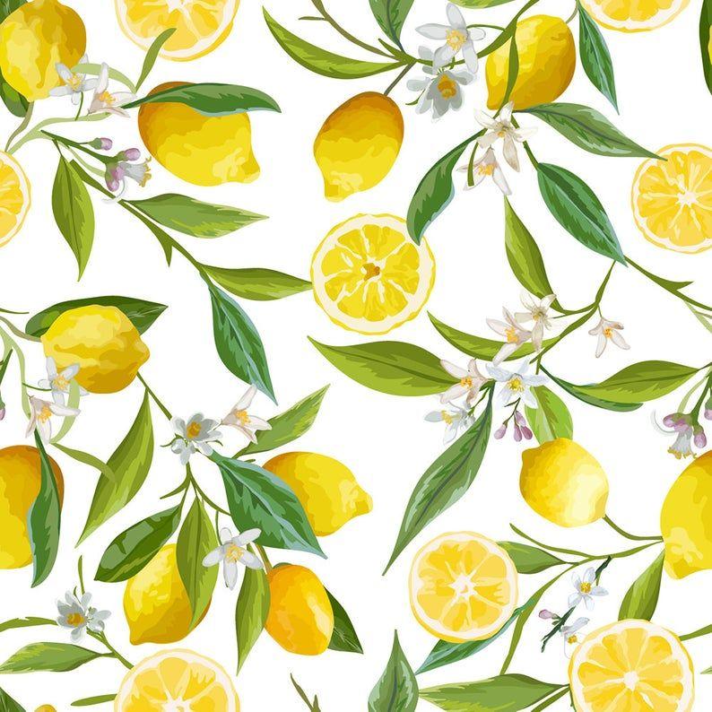 Yellow Citrus Wallpaper | Self Adhesive Wallpaper, Wall mural, Removable Wallpaper, temporary wallpaper #208, peel and stick wallpaper