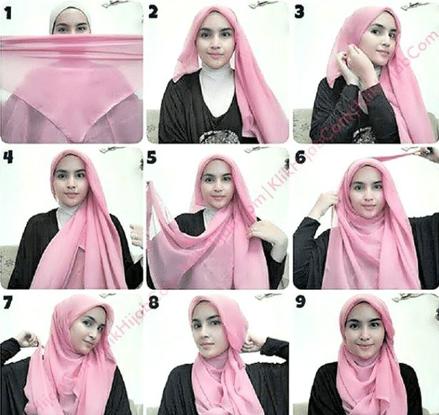 Tutorial Hijab Syari Dan Modis Kerudung Tutorial Hijab Pashmina Hijab
