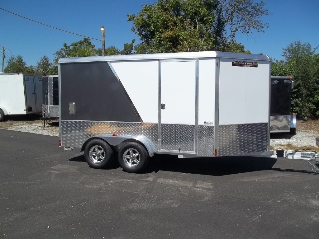 2 tone aluma AE712TAM enclosed trailer all aluminunm 7 x