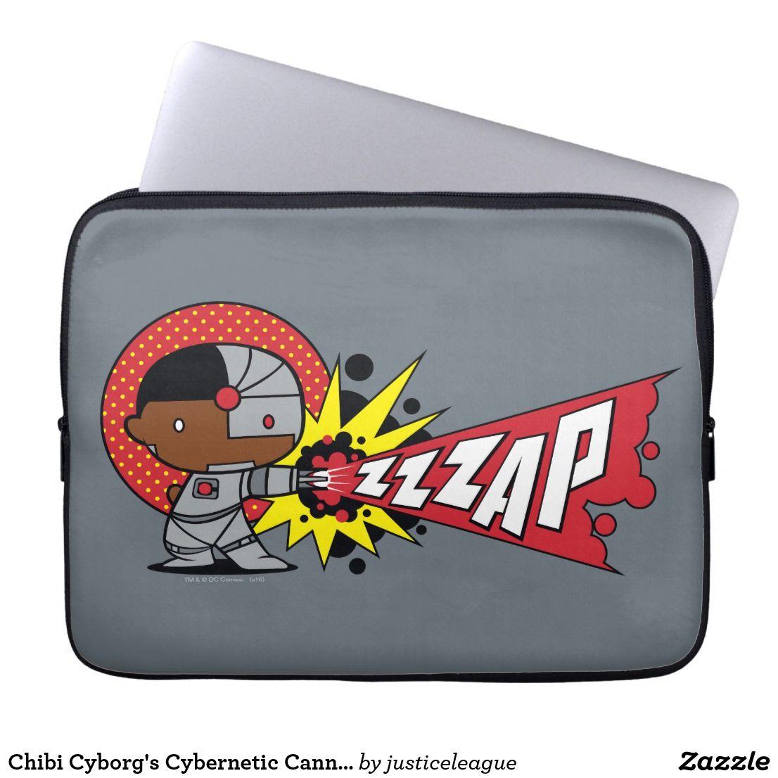 Chibi Cyborg S Cybernetic Cannon Laptop Sleeve Zazzle Com Laptop Sleeves Chibi Neoprene Laptop Sleeve