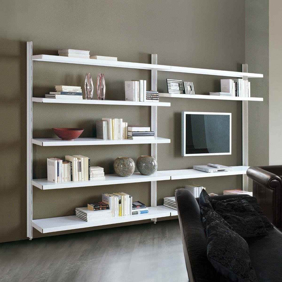 Vidar libreria a giorno in acciaio design moderno 325 x 32 x 203 cm ...