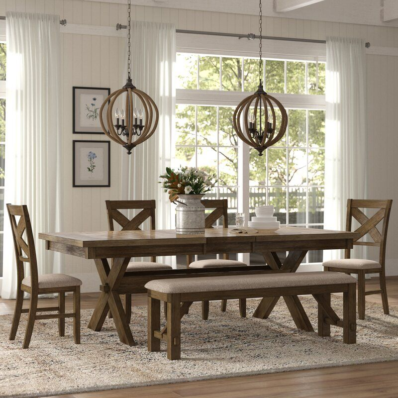 Poe 6 Piece Extendable Dining Set | Farmhouse dining, Dining