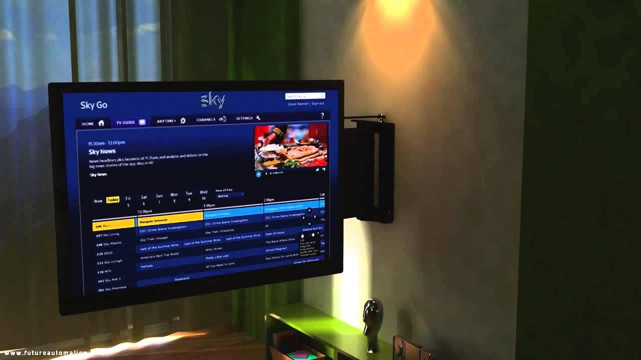 Support Tv Motorise Pse90 Par Future Automation Youtube Support Tv Motorise Tv Monte Sur Le Mur Tv Murale