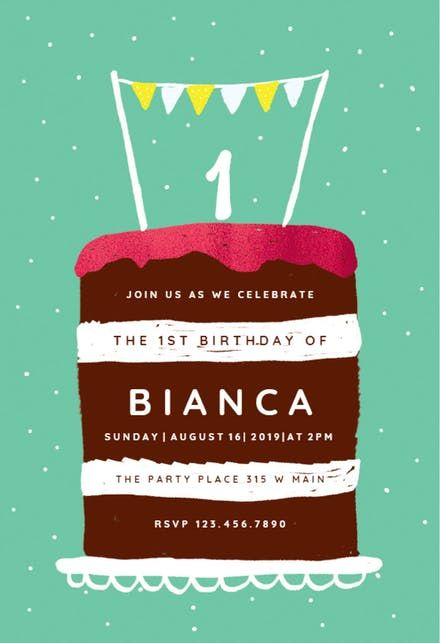 Free Party Invitations Templates Online Alluring Free 1St Birthday Invitation Templates  Greetings Island  First .
