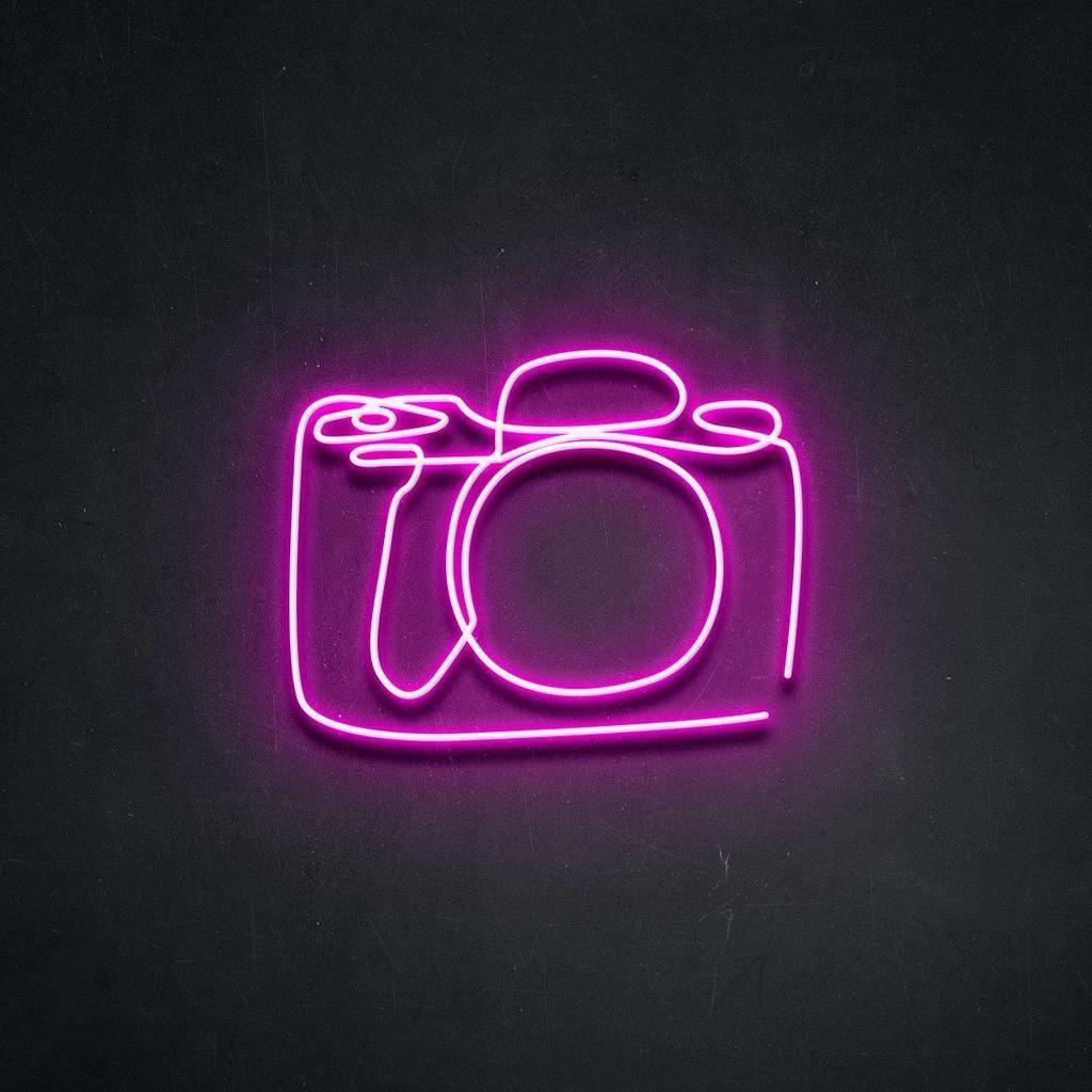 'Camera' Neon Sign in 2020 Pink neon wallpaper, Neon