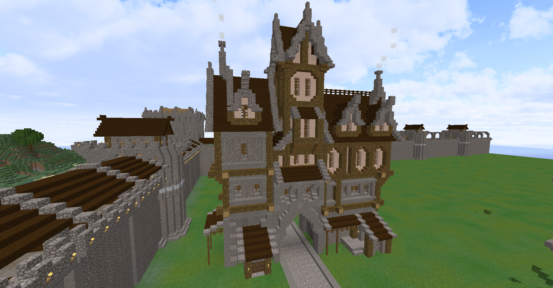 Fantasy Style Minecraft House With An Arch In The Middle Created