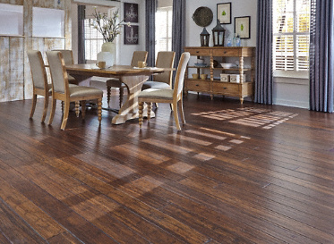 Bamboo Flooring Antique Hazel Strand Distressed Wide