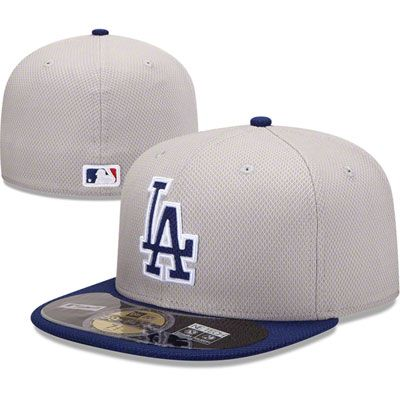 Los Angeles Dodgers Grey Road New Era Diamond Era 59FIFTY Fitted Hat ... ad6188af4b02