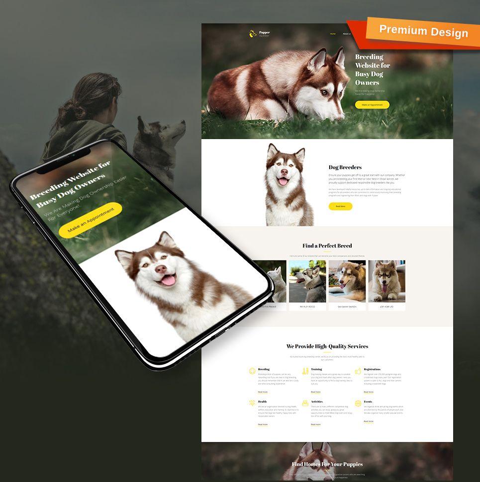 dog breeder website template for dog care site dog. Black Bedroom Furniture Sets. Home Design Ideas