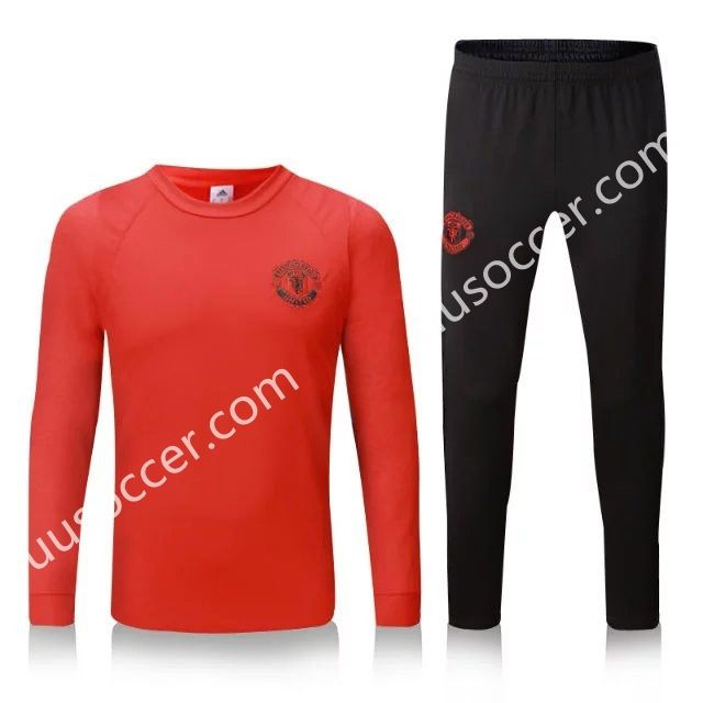 2016-17 Manchester United Champions League Red Thailand Soccer Tracksuit