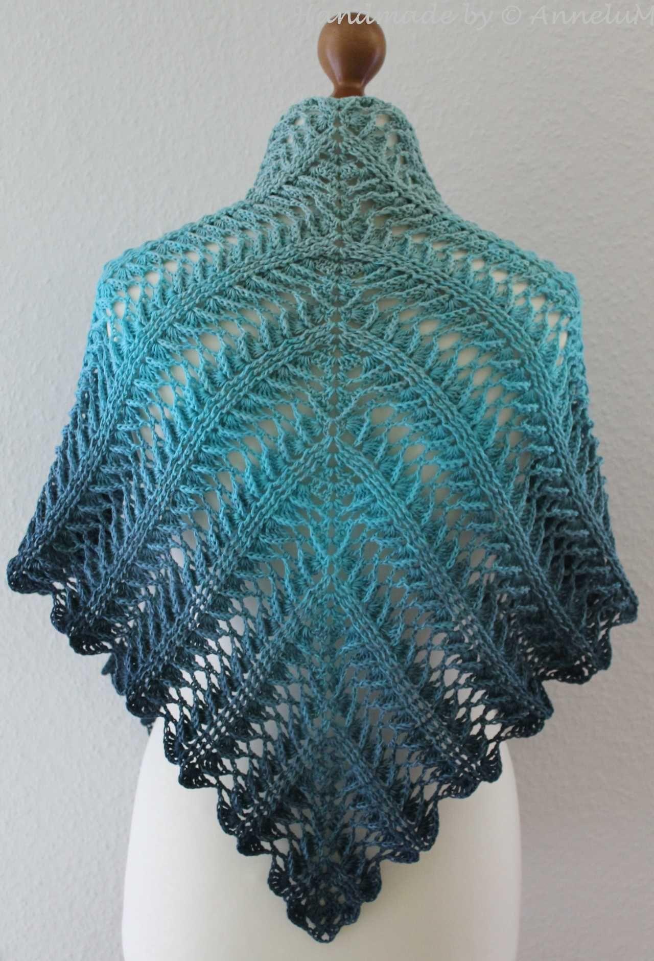 Laurelin …und wieder ein neues Tuch von Jasmin Räsänen #shawlcrochetpattern