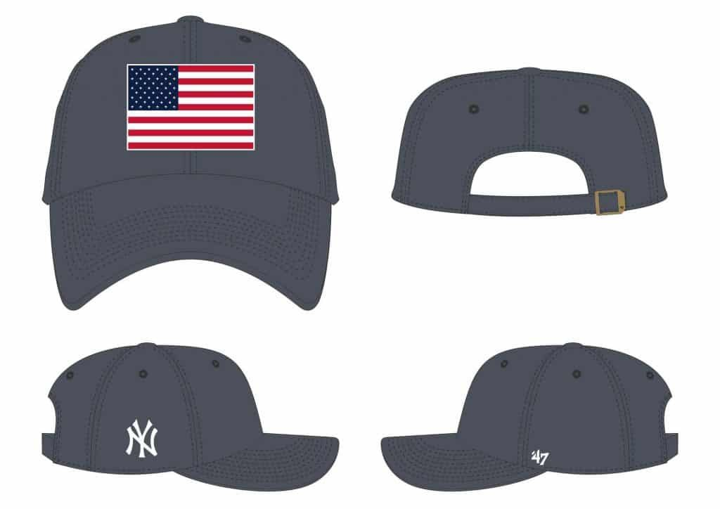 size 40 detailing exclusive range New York Yankees 47 Brand USA Flag Vintage Navy Clean Up ...