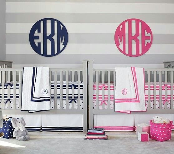Pottery Barn Kids - Harper | Boy and Girl Room | Twin cribs ...