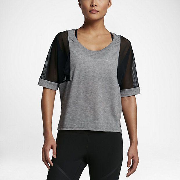 Maglia da allenamento a manica corta Nike Breathe - Donna