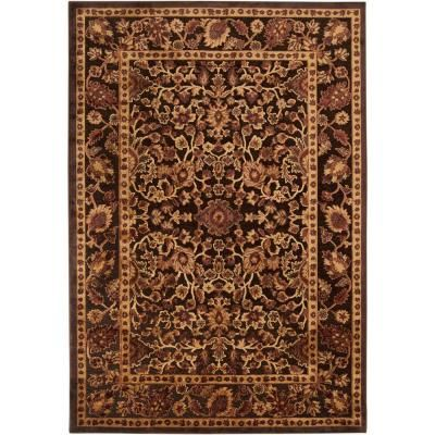 Brazil Dark Chocolate and Rust 7 ft. 6 in. x 10 ft. 6 in. Area Rug, AWFZ7184-76106 at The Home Depot - Tablet