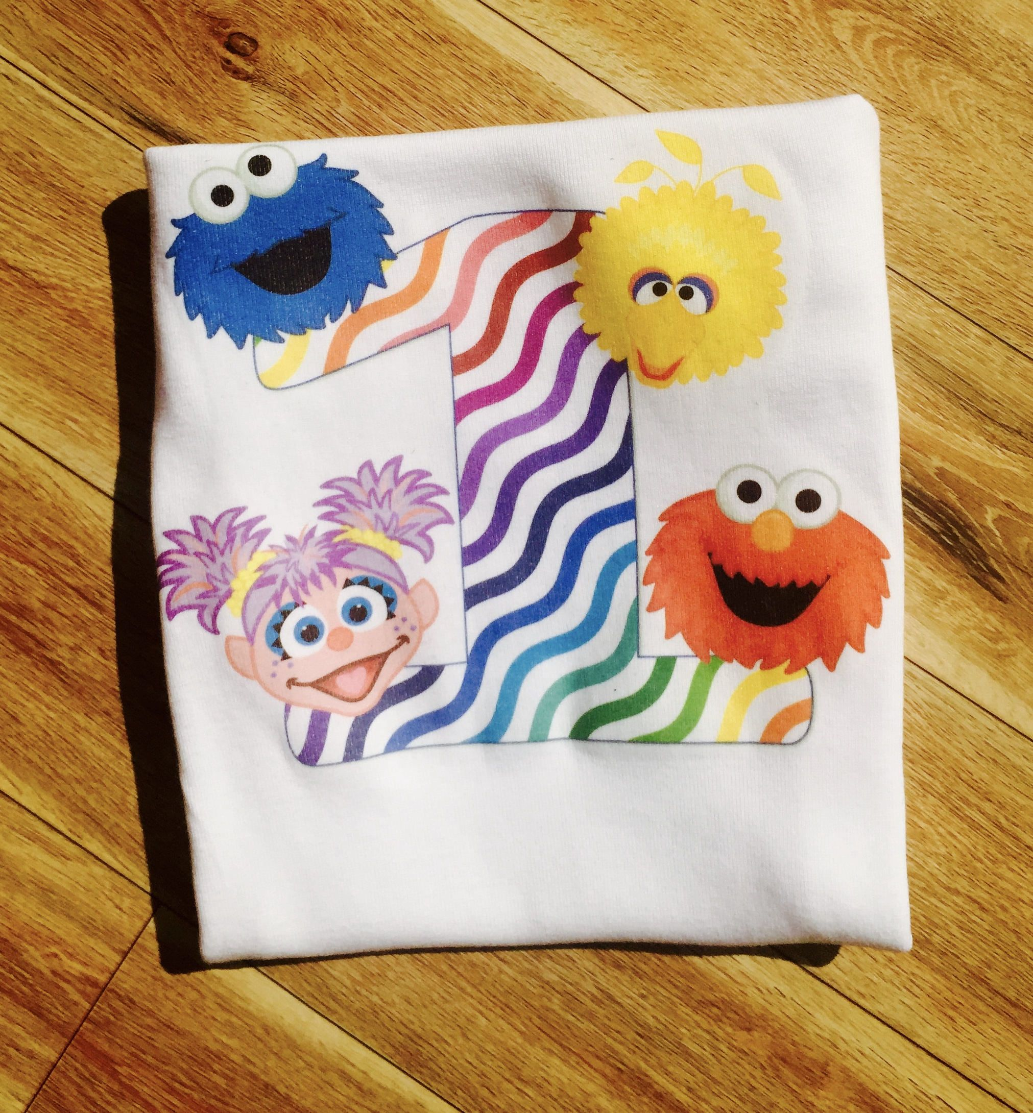 Sesame street 1st Birthday Personalized 3d printing t ...
