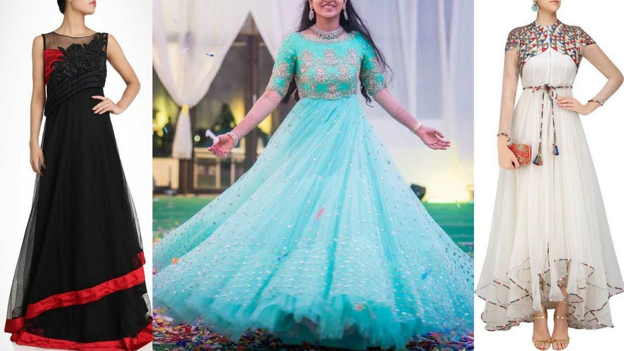 Latest Net gowns designs | Net gowns for party | Net gowns Indian ...