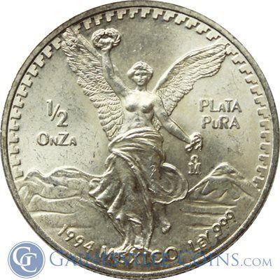 1992 1 2 Oz Silver Mexican Libertad