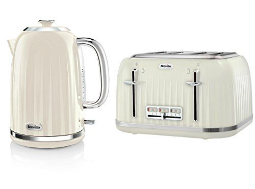 Breville Kitchen Appliance Set Cream Impressions 1 7l Kettle And 4 Slice Kettle And Toaster Set Kettle And Toaster Kitchen Appliance Set