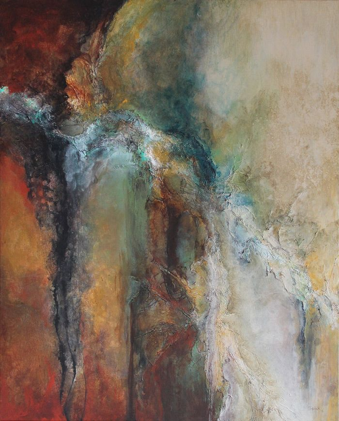"""The RainMaker"" NEW by Laura Swink, 24 x 36 Acrylic and Mixed Media on Canvas…"