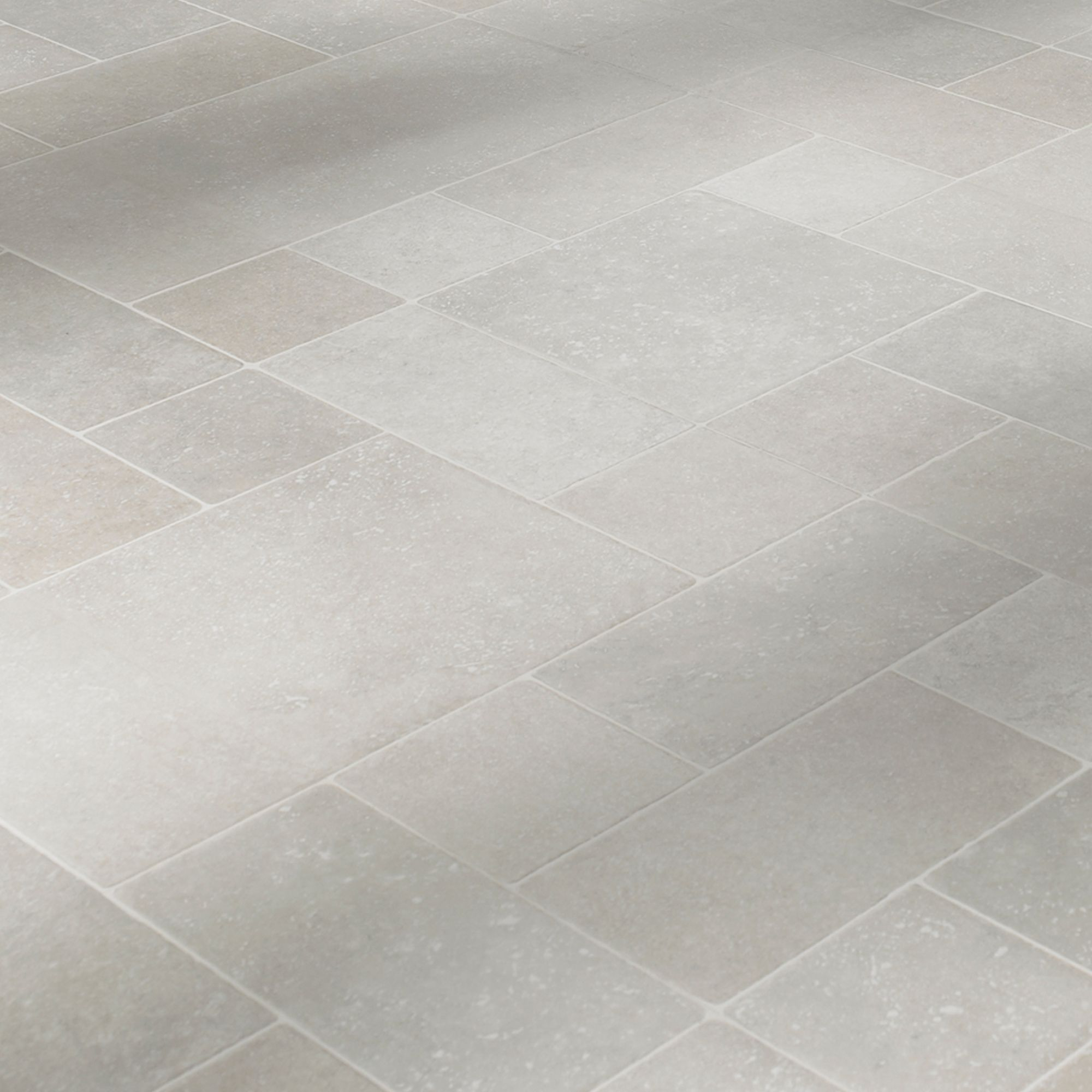 Barbarita Random Limestone Tile Effect Laminate Flooring 1