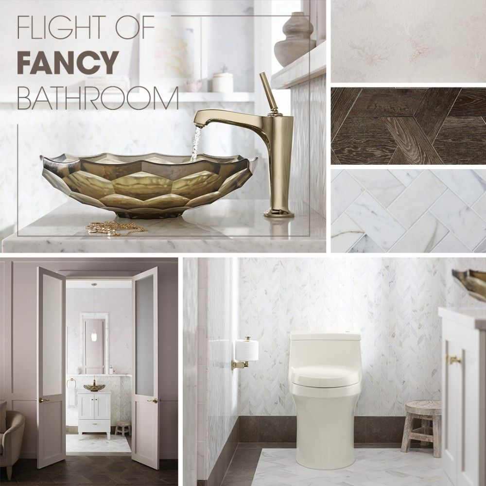 Flight of Fancy Bathroom | Small vanity, Powder room design and ...