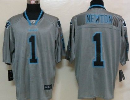 83843717 Nike Carolina Panthers #1 Cam Newton Lights Out Gray Elite Jersey ...