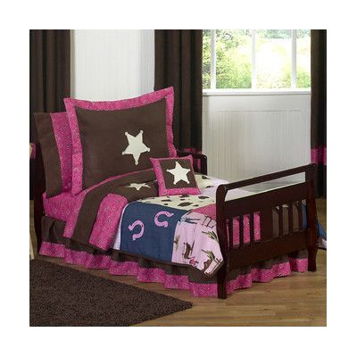 Sweet Jojo Designs Cowgirl 5 Piece Toddler Bedding Set Cowgirl-Tod,    #Sweet_Jojo_Designs_Cowgirl-Tod