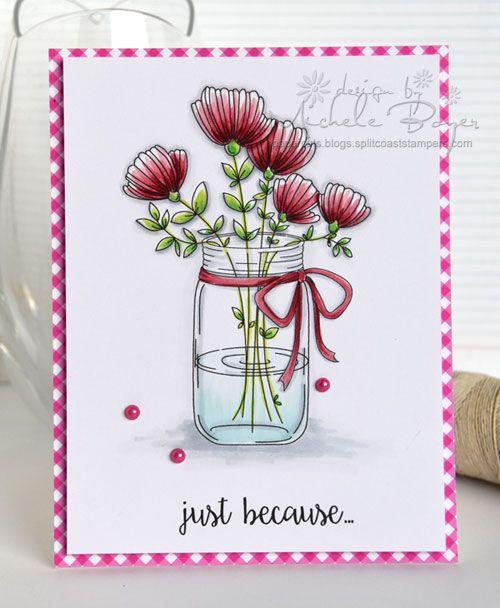 Stamping Bella Preview-Mason Jar of Flowers