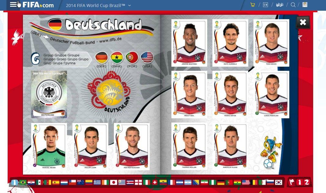 World Cup Champions Germany Panini Sticker Album 2014 Team World Cup Champions Sticker Album World Cup