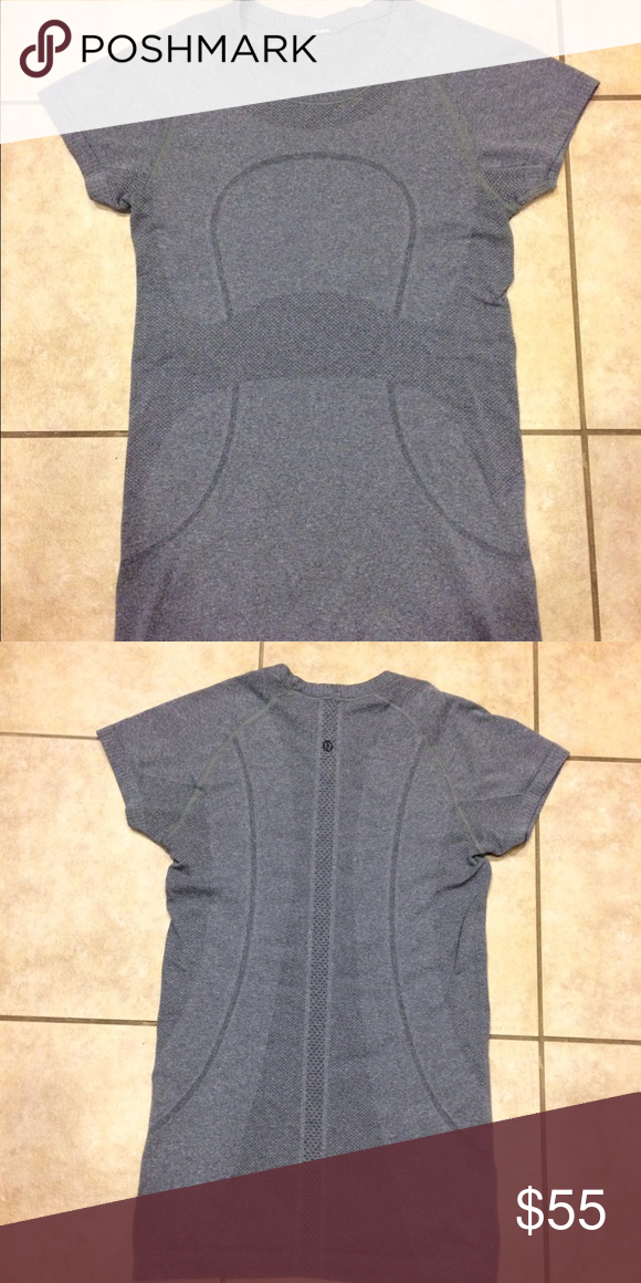 Lululemon run swift short sleeve top size 4 Rarely worn Lululemon run swift short sleeve gray shirt size 4. No holes, no stains, non smoking home. lululemon athletica Tops Tees - Short Sleeve