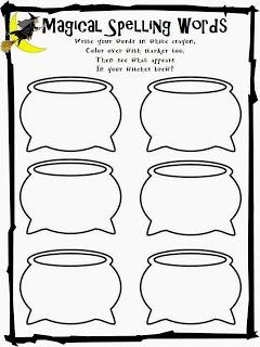 freebie word work for halloween and your spelling words write the word in a white crayon then. Black Bedroom Furniture Sets. Home Design Ideas