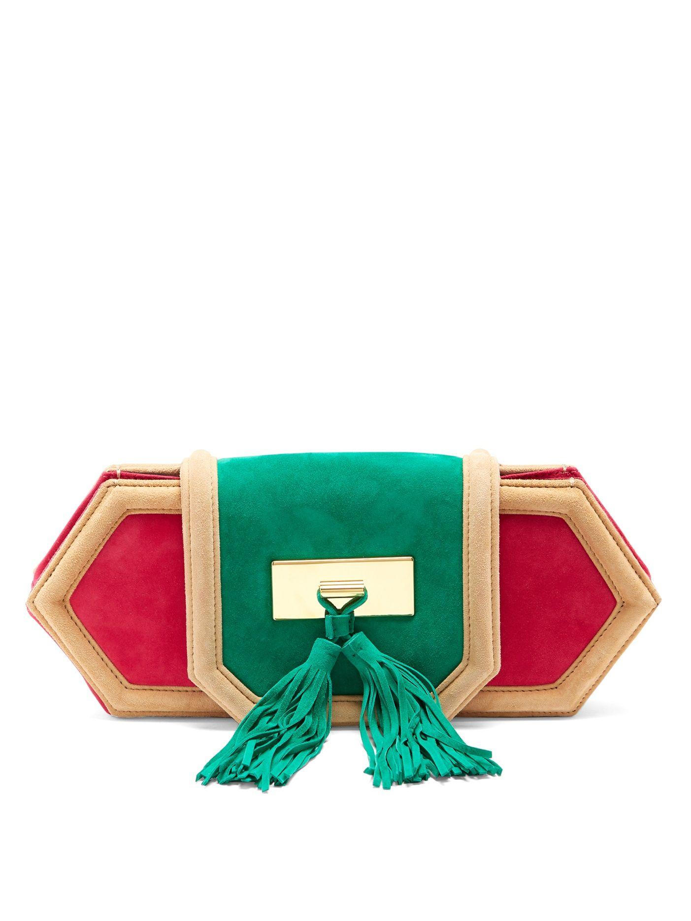 39f6c8000ee Killari tassel-embellished suede clutch   Balmain   MATCHESFASHION.COM US