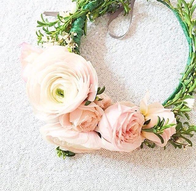 Weddings call for floral crowns. Floral design Winston