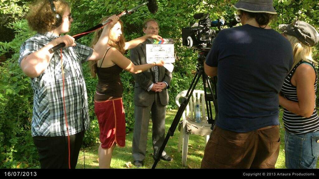 robertz filming a small role in Artaura Films' SWAN