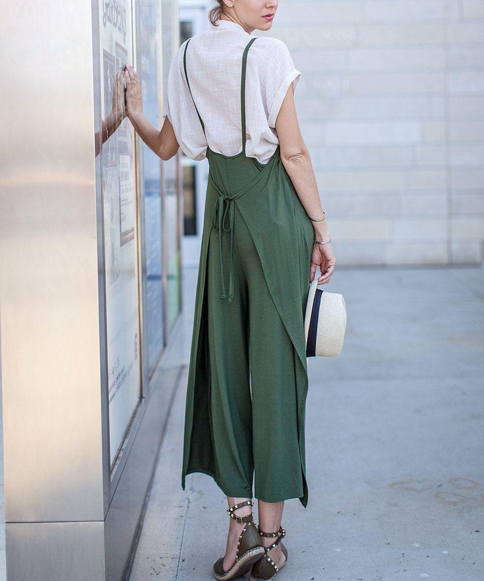 Loving this Olive Side-Tie Jumpsuit on #zulily! #zulilyfinds