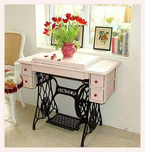 reciclado reciclado de base de maquinas de coser pinterest m bel n hen und upcycling. Black Bedroom Furniture Sets. Home Design Ideas