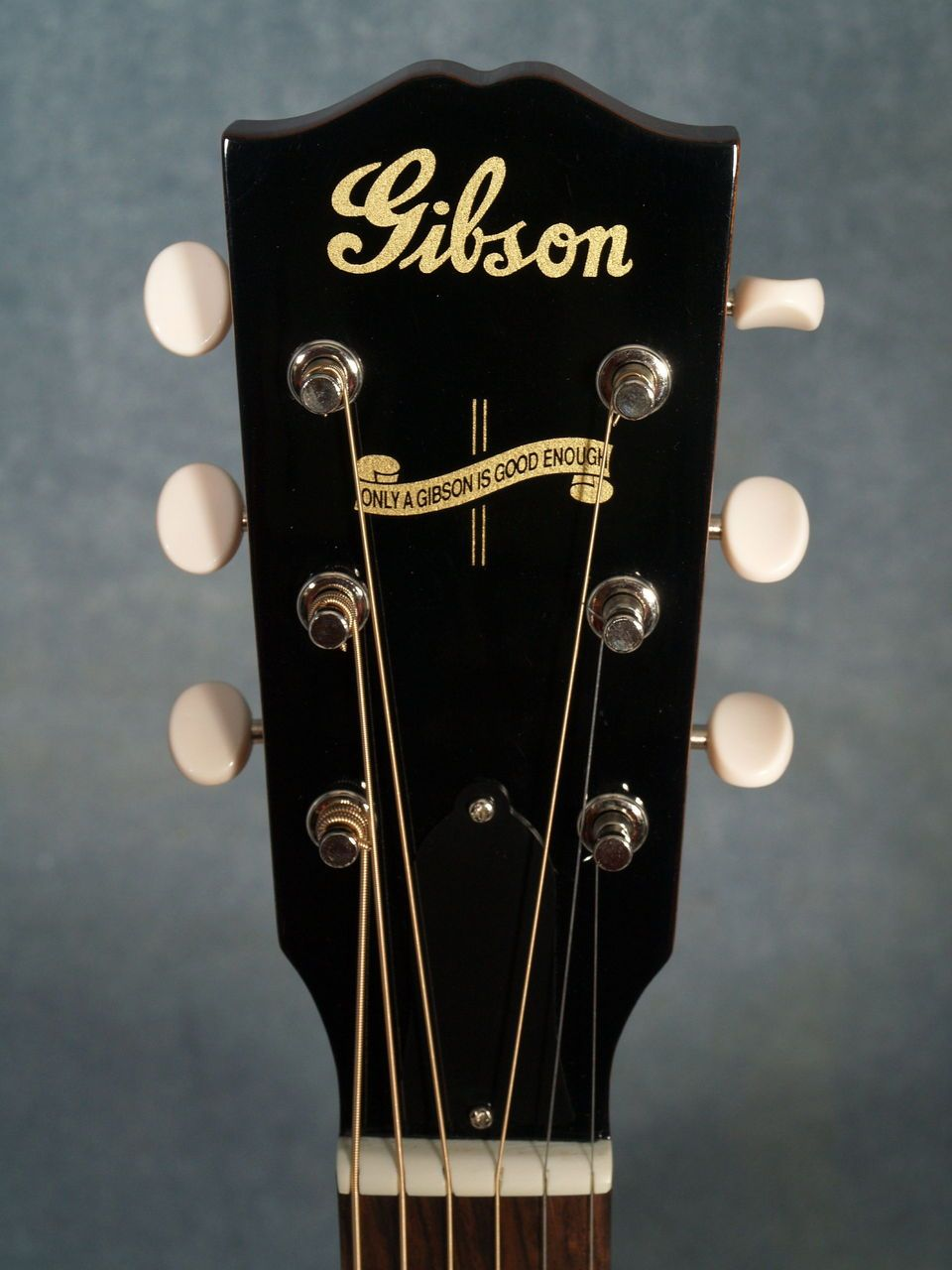 Gibson J 35 Banner Acoustic Guitar Headstock Gibson Acoustic Gibson Guitars Archtop Guitar