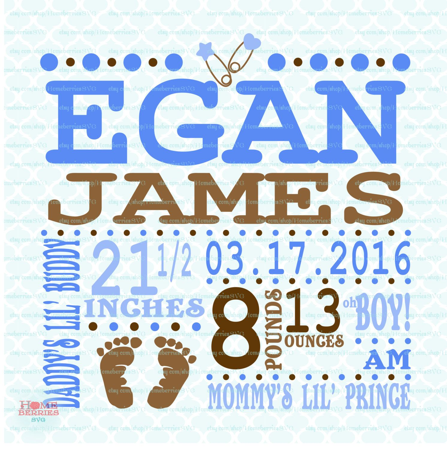 Birth Announcement Template Svg Birth Svg Baby Svg Announcement