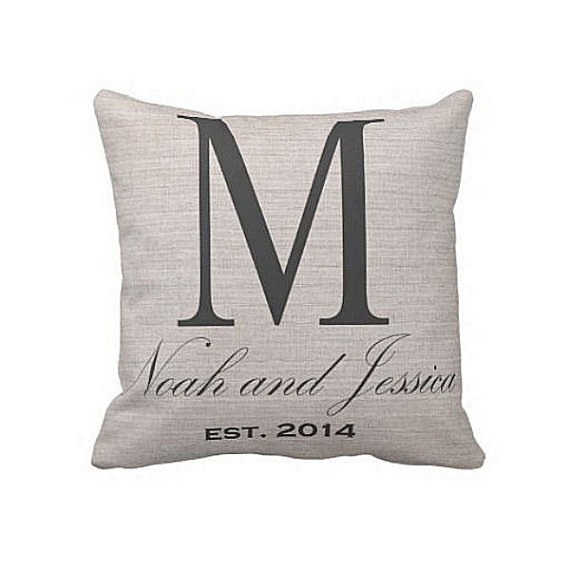 Personalized Pillows For Wedding Gift: Personalized Initial Pillow, Great For A Wedding Gift