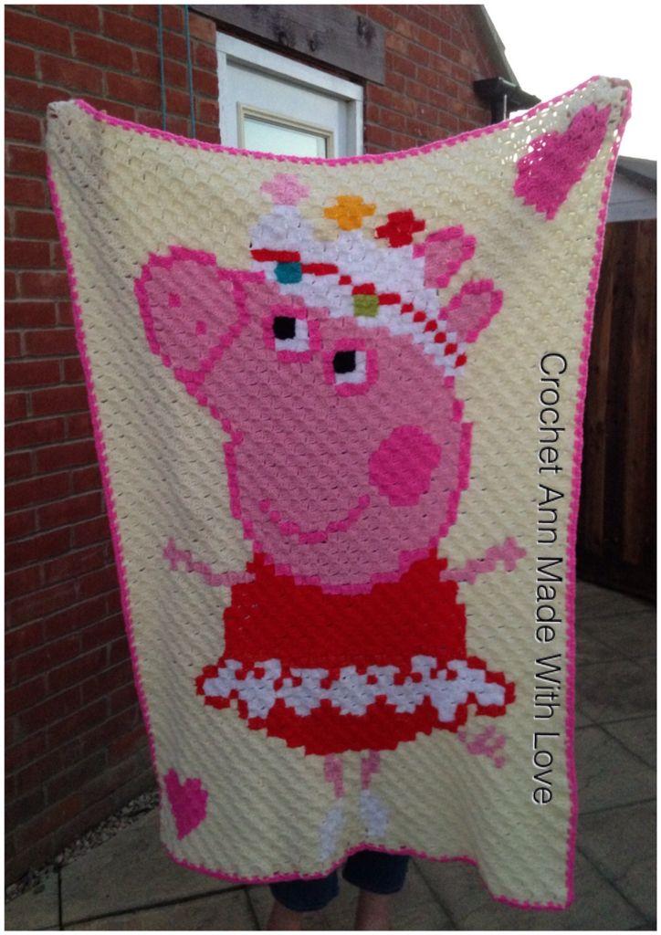 Peppa pig c2c hot off the hook | Peppa Pig Crochet | Pinterest