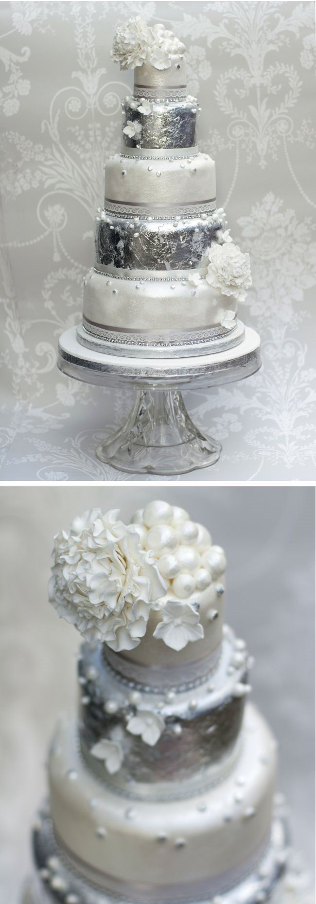 Silver Wedding Cake Ideas; Liggy\'s Cakes | Wedding | Pinterest ...